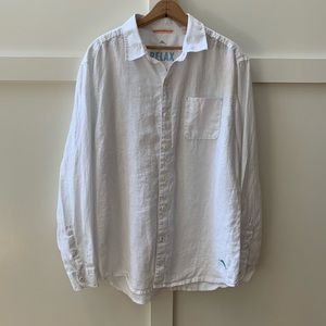 tommy bahama linen button up
